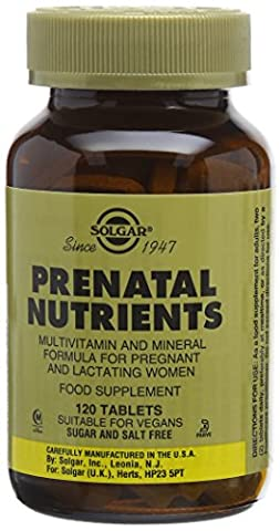 Solgar Prenatal Nutrients Tablets - 120 tablets