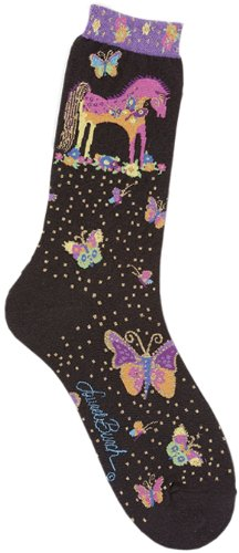 laurel-burch-laurel-burch-socks-mythical-mares-black