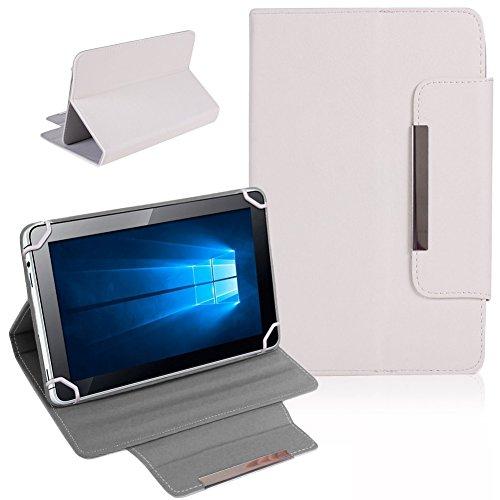 Tablet Schutz Tasche Hülle für ARCHOS 101b Xenon Case Cover Universal Bag NAUCI, Farben:Weiß