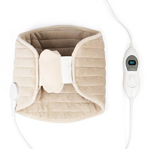 Vidabelle Wärmegürtel für Rücken, Bauch und Niere in beige, 3 Temperaturstufen, Überhitzungsschutz, Maschinenwaschbar, inkl. Verlängerungsgurt