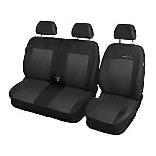 CITROEN JUMPER JUMPER Sitzbezüge nach Maß Autoplanen perfekte Passform Schonbezüge Sitzschoner Velour + Strickpolster ®Auto-schmuck (JUMPER II p3)