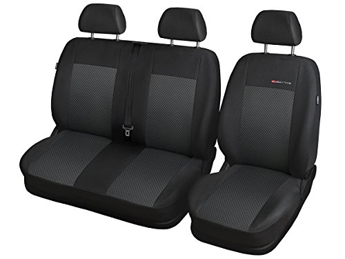 CITROEN JUMPER JUMPER Sitzbezüge nach Maß Autoplanen perfekte Passform Schonbezüge Sitzschoner Velour + Strickpolster ®Auto-schmuck (JUMPER II p3) -