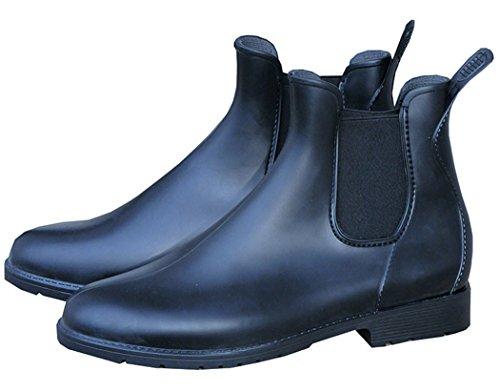 PVC Stiefelette Cardiff schwarz, Elastikeinsatz Stiefeletten für Erwachsene PVC Stiefelette, Jodhpurstiefelette, Reitstiefelette, PVC Reitstiefelette, Halbstiefel, Rubber Boots, Größe 38, Farbe Schwarz