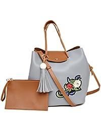 Alvaro Castagnino Grey::Brown Colored Handbag For Women
