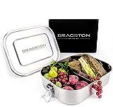 Bragston Edelstahl Brotdose auslaufsicher   inkl. flexiblem Trennsteg   nachhaltig und umweltfreundlich