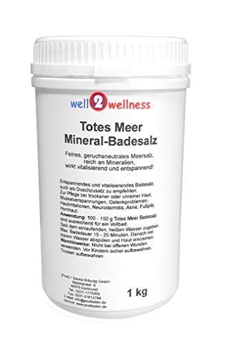 Meer Mineral Badesalz (Totes Meer Mineral Badesalz/Saunasalz grob 1,0 kg - 100% naturrein aus dem Toten Meer)