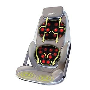 HoMedics Shiatsu Max Rücken- und Schultermassagegerät, Verstellbare Massageauflage, Entspannung für Schulter-, Rücken- und Oberschenkelmuskulatur mit Shiatsu-, Rollen- und Vibrationsmassage mit Wärme
