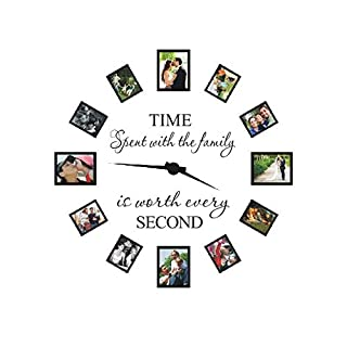 Time spent with family is worth every second wall decal - family wall decal Quote Home Decor Art