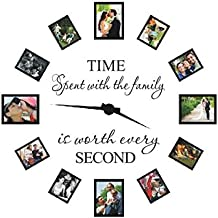 "Decalcomania da parete con scritta ""Time Spent with Family Is Worth Every Second"" (in lingua inglese)"