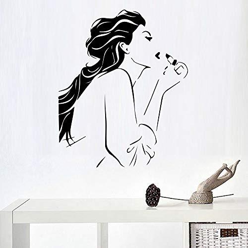 Schöne Mädchen Schönheitssalon Wandaufkleber Für Mädchen Schlafzimmer Dekoration Wandkunst Dekor Beauty Shop Salon Zubehör Wandbilder 86 cm X 104 cm