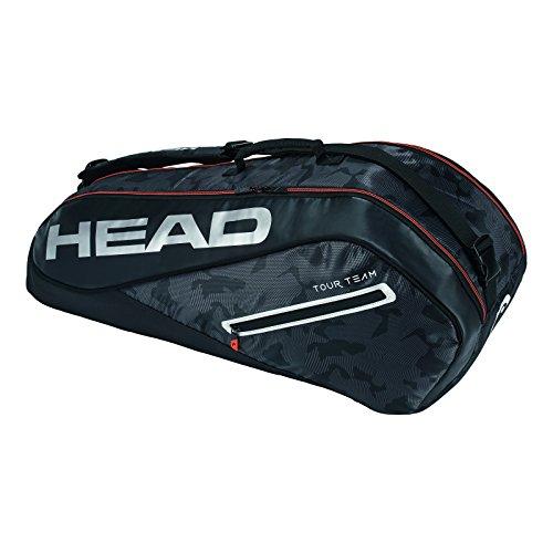 HEAD Tour Team 6r Combi Tennisschlägertasche, Unisex, 283128BKSI, schwarz/Silber, Einheitsgröße