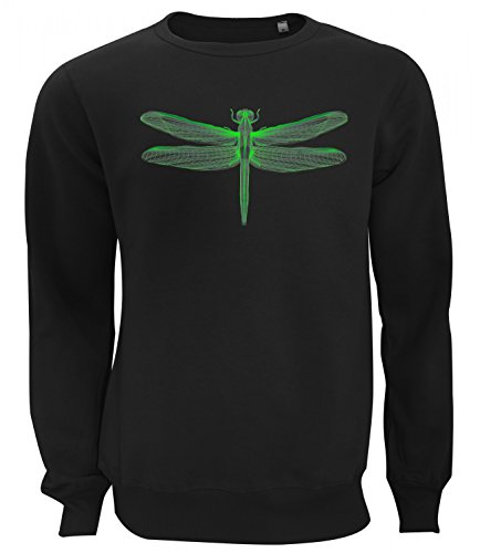 Three Monkeys Green 3D Insect Animals Collection Women's Unisex Sweatshirt Nero Large