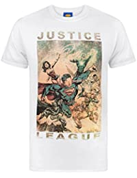 Justice League Characters Action Men's T-Shirt