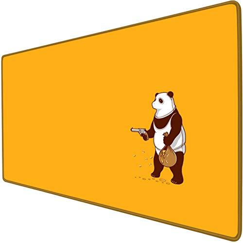 mauspad groß gaming Panda Raub Honig niedlichen Tier erweiterte Gaming-Mauspad übergroße riesige xxl xl rutschfeste wasserdichte Schreibtischunterlage