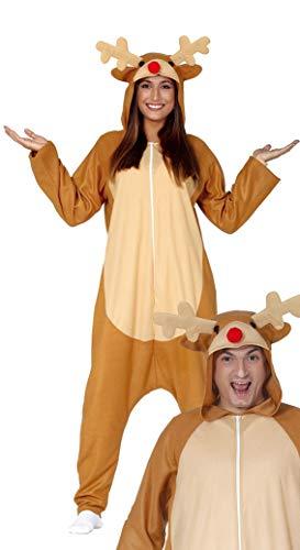 Guirma Kostüm Rentier Pyjamas Weihnachtsmann-Overall Rudolph Mann Frau
