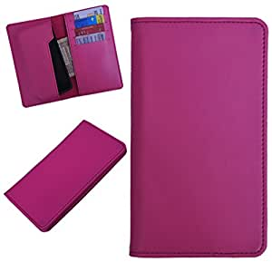 DCR Pu Leather case cover for Huawei Ascend P2 (pink)