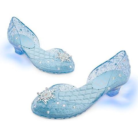 Disney Store Frozen Princess Elsa Light-Up Shoes/Costume Slippers Size 13/1(Versin EE.UU., importado)