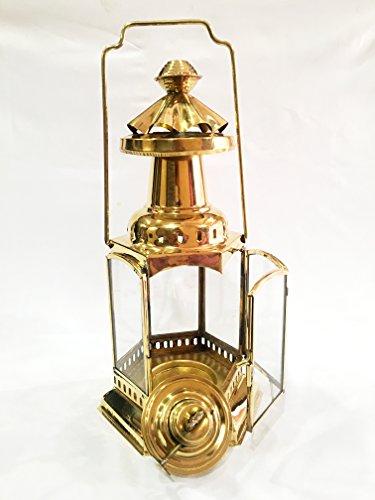 Vintage Messing Nautical Maritime Schiff Laterne ~ Schiff Zum Aufhängen Cargo Öl Lampe 30,5cm