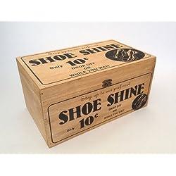 Vintage Caja De Almacenamiento De Madera
