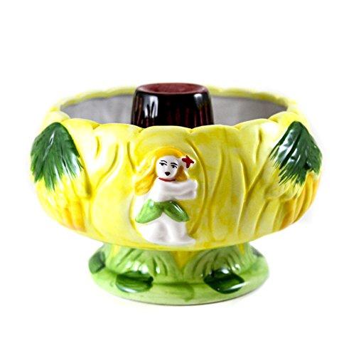 Tiki Volcano Keramik Tränkebecken-32Unzen Scorpion Cocktail Schiff Scorpion Bowl