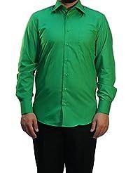 Muga chemise manches longues, Vert