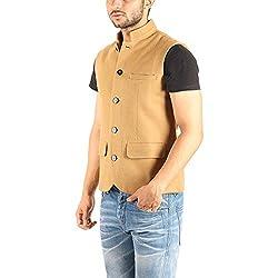 Owncraft Mens Camel wool nehru jacket 1