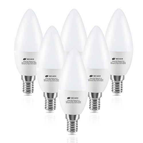 Ampoule LED E14 C37 6W, Seealle Ampoule e14 Bougie Équivalent à Ampoule Incandescente 60W, 600lm Ampoule LED Culot E14, Blanc Chaud 2700k, Lot de 6 [Classe énergétique A+]