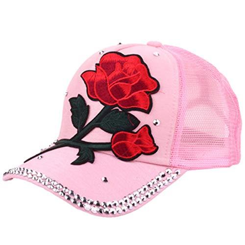 SELYRose Sailor Dance Baseballmütze Summer Shade Bend Damenhut Diamond Studded Casual Fashion Tide Cap -