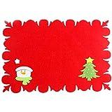 3ad636fcf MoGist Navidad – Soporte para Cubiertos Set Roja Navidad patrón – Mesas  Cuchillo y Tenedor Set