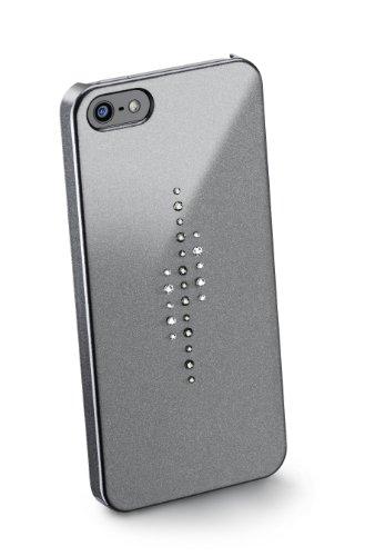 Cellular Line Back Cover mit Swarovski für Apple iPhone 5 inkl. Displayschutzfolie/Mikrofasertuch schwarz schwarz
