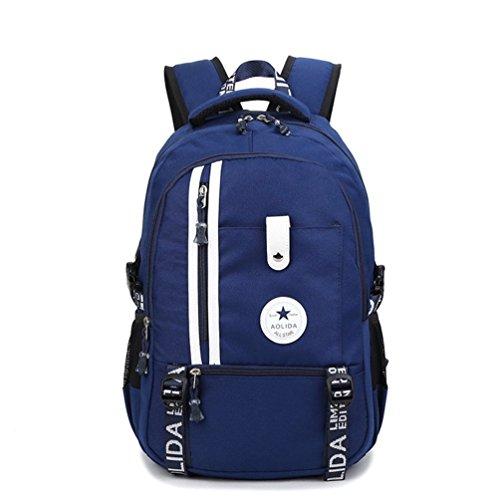 Go Further Hochleistungs-Multifunktions-wasserdicht ultrastarker Reise blauen Rucksack für die Schule Blau