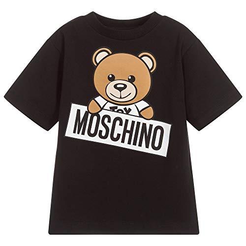 Moschino maxi t-shirt nera con orsacchiotto 4 a