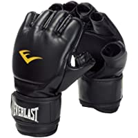 Everlast Martial Arts PU Grappling Gloves Guantilla MMA, Unisex, Negro, S
