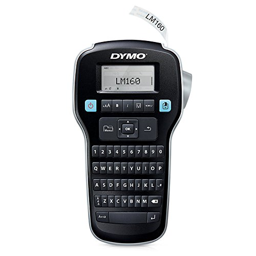 dymo-labelmanager-160-label-printers-thermal-transfer-lcd-d1-black-silver-qwerty-aa