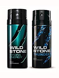 Wild Stone Hydra Energy And Thunder Deodorant For Men (150 ML)