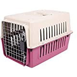 Urbancart Portable Pet Crate/Pet Carrier With Cage/Outdoor Travel Pet Kennel (Red) (Medium)