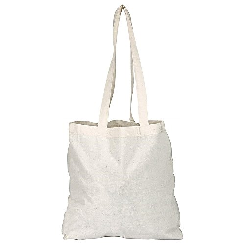 eBuyGB Pack de 10 naturel coton Shopping sacs fourre-tout – Shoppers