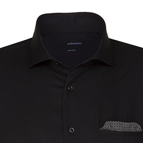 Seidensticker -  Camicia classiche  - Classico  - Maniche lunghe  - Uomo Nero (39)