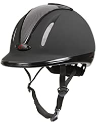 Covalliero Riding Helmet Carbonic VG1 Anthracite, Unisex, Helm Reithelm Carbonic VG1