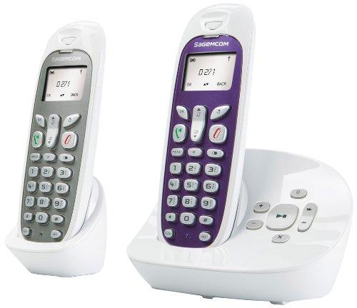 Sagemcom D271A DUO - Cordless non ISDN, con segreteria telefonica, 2 pz,...