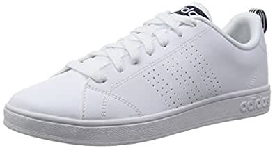 adidas NEO Herren Advantage Clean Vs Sneakers, Blanco Azul Marino (Ftwbla Ftwbla Maruni), 48 23 EU