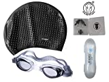 Ans Black Swimming Kit Combo ; 1 Swimming Bubble Cap, 1 Anti Fog