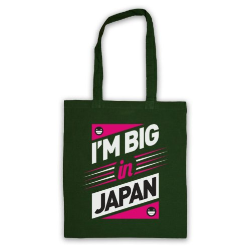 I'm, Big In Japan, Hipster Slogan Tote Bag Verde scuro