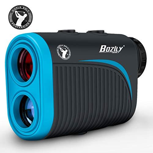 Bozily Golf Entfernungsmesser, 6X Wiederaufladbarer Laser Entfernungsmesser, 1200 Yards mit Neigungsverstellung, Flag-Lock, 4 Scan Modus, Continuous Scan Unterstützung, Turnier Zugelassener