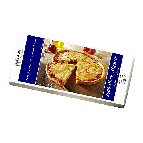 Media Storehouse 1000 Piece Puzzle of Pizza Margherita with three kinds of cheese (12531451)