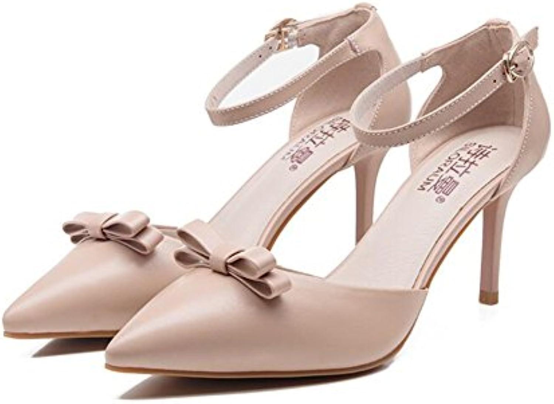 YMFIE Plata Atractivo Estilo Europeo Open Toe Sandalias de Tacón Lady Transparentes y Zapatos de Tacón de Cristal... -