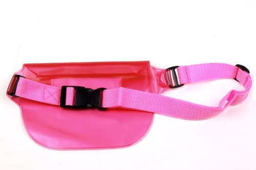 Wasserfeste Gürteltasche Rosa für Emporia Comfort | Glam | Pure | Select | Smart | Euphoria | ECO | TELME C151 - T210 - X200 - X210 & TP-Link Neffos C5L | C5 Max | C5 | X1. Perfekt für StrandundBerge