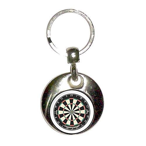 Preisvergleich Produktbild Dartboard - Chrom runden doppelseitigen Schlüsselanhänger