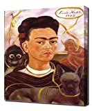 Frida Kahlo - Self Portrait With Small Monkey - Art Leinwandbild - Kunstdrucke - Gemälde Wandbilder