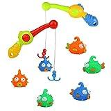 Nuheby Badewannen Spielzeug Fisch Gummi Fisch Spielzeug Wasserspielzeug Schwimmbad- Badespielzeug Jungen Mädchen